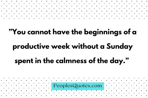 English Sunday quotes and sayings