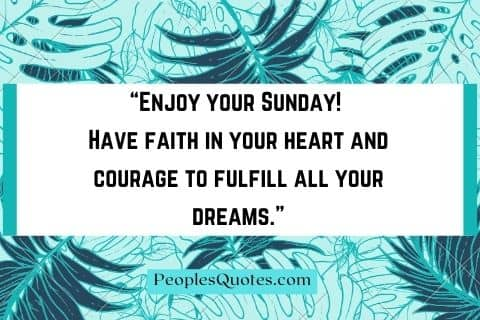 Motivational Sunday Quotes in English with Images