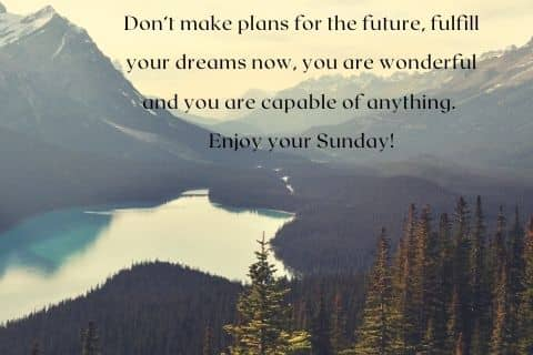 Enjoy your Sunday quotes
