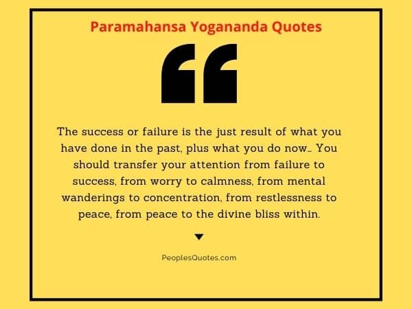 Yogananda quotes on success