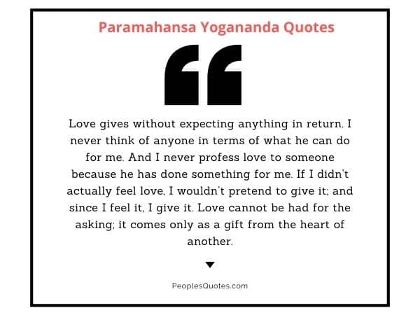 Yogananda quotes on love