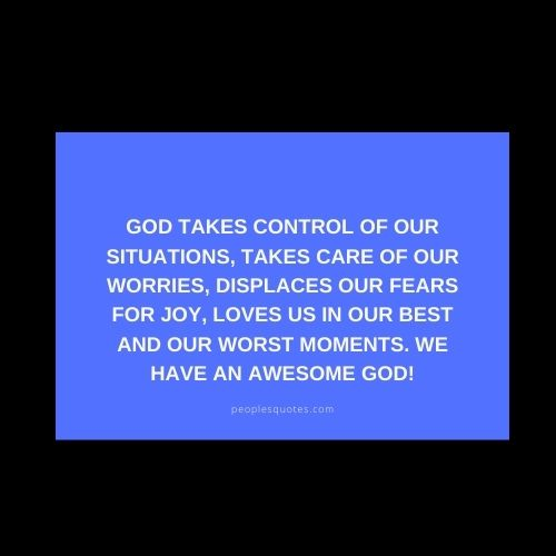 God in Control Message