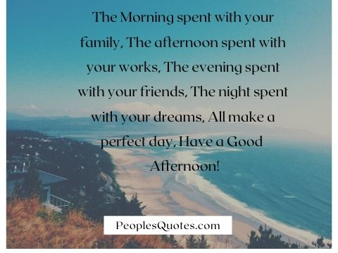 Good Afternoon Quotes and Images