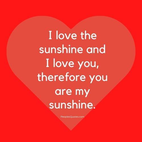 I love the sunshine quotes