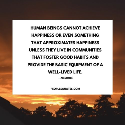 quotes about happiness by Aristotle