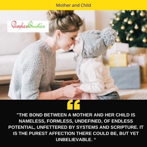 mother and child bond quotes