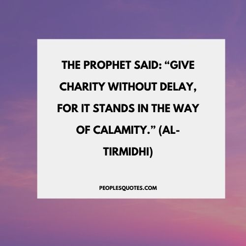 Quotes on Charity In Islam by Prophet Muhammad (PBUH)