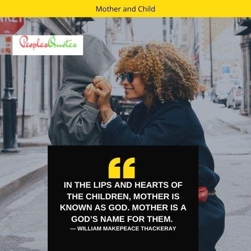 Mom and child relationship caption