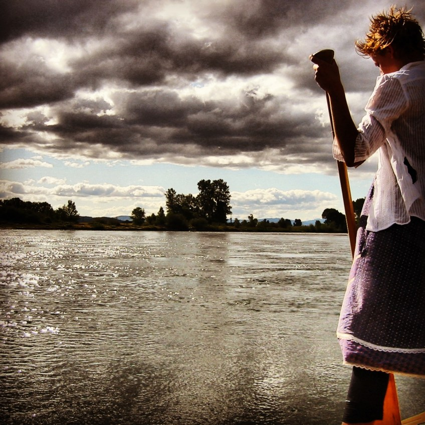 Sylvia Bensen on the Willamette River