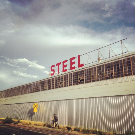 Steel in an industrial area of SLC