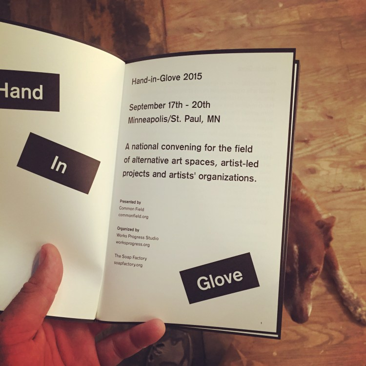 The Hand-In-Glove Art Convening, in Minneapolis
