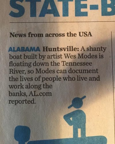 Apparently we were in USA Today (Thanks Joan Raspo)