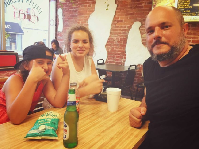 Nathan Brown and three-quarters of his charming family