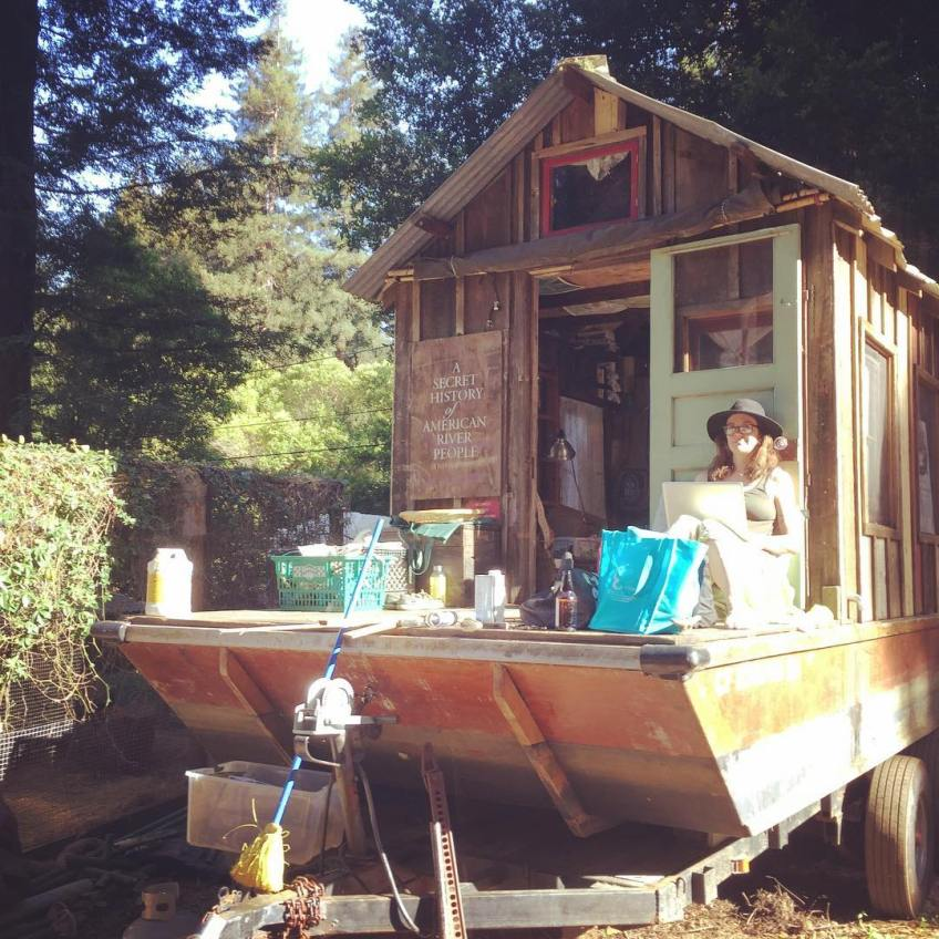 The untidy state of the shantyboat between journeys