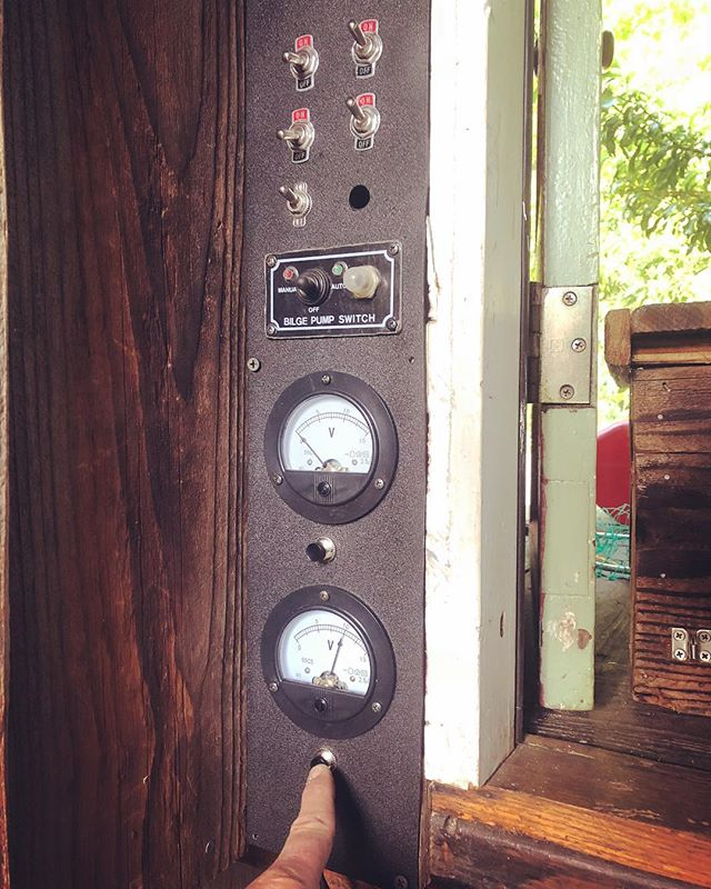 Whew. New shantyboat electrical control panel