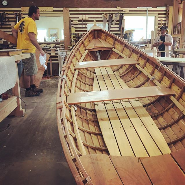 In the Riverport Wooden Boat School (part of the Hudson River Maritime Museum) people are building big and little boats