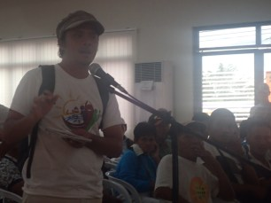 Owen Migraso of the Center for Environmental Concerns which led an Environmental Investigative Mission (EIM) to probe into the impacts of the Tide Embankment on the environment and the socio-economic situation of affected communities.