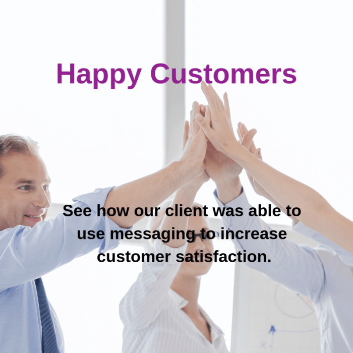 improve customer satisfaction with messaging