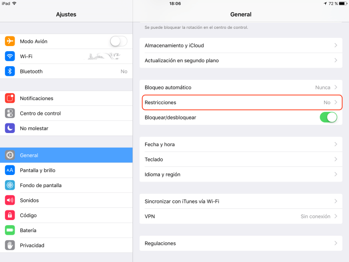 control parental en iPad/iPhone (iOS)
