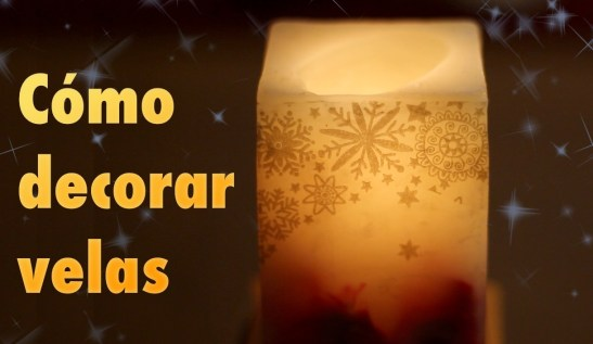 cómo decorar velas con servilletas