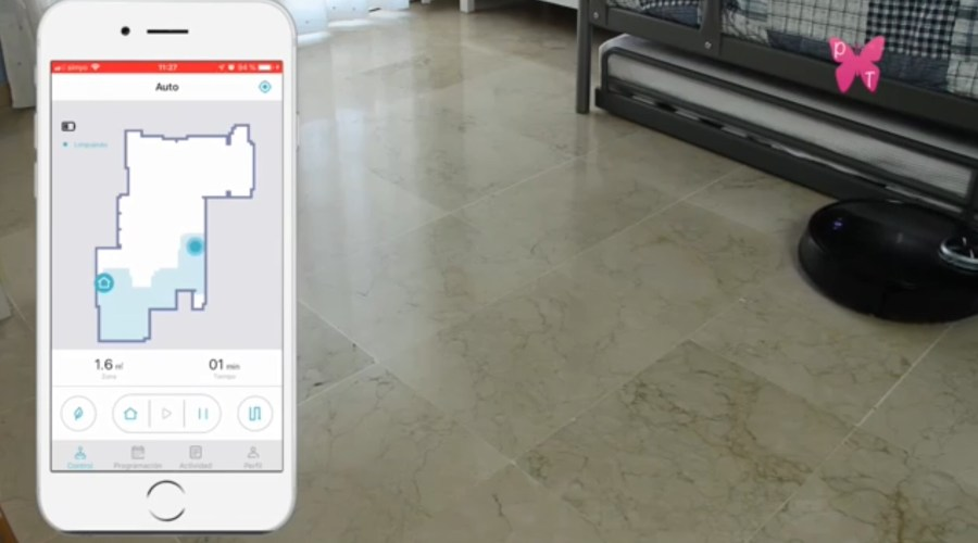 robot conga serie 3090 limpiando en función bordes. PepaTabero.com
