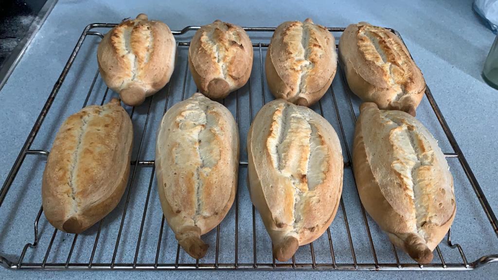 bollos de pan casero