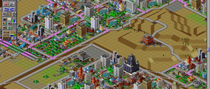 SimCity 2000 Macintosh  zonas residenciales y comerciales de nueva construcción a la espera de la liquidación
