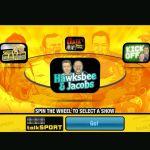 Talksport Interactive Quiz DVD Player  al inicio de un solo jugador o un juego de equipo se utiliza un giro de la rueda para decidir que espectáculo se juega primero