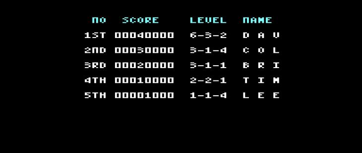 Puzznic Amstrad CPC  lista de puntuación alta