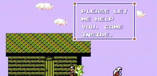 Zelda II: The Adventure of Link NES  Visitar una ciudad puede brindar información útil y recuperar la salud.