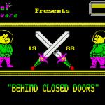 Behind Closed Doors ZX Spectrum  Balrog, cargando