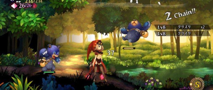 Odin Sphere: Leifthrasir PS Vita  luchando contra los osos (versión de prueba)