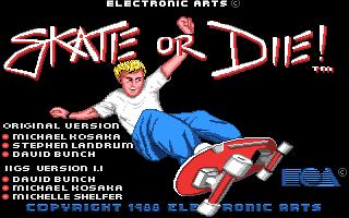 Skate or Die Apple IIgs Pantalla de Título