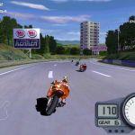 Moto Racer 2 Windows  Racing una Superbike a través de una pista Suburbia en un día soleado