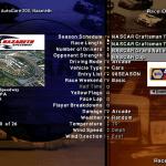 NASCAR Racing: 1999 Edition Windows  la información de la pista/evento también se actualiza. Y observe cómo ahora podemos elegir entre varios campeonatos diferentes.