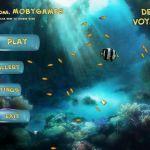 Deep Voyage Windows  Pantalla de título y menú principal