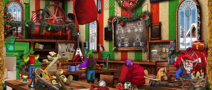 Christmas Wonderland Windows  Cada vez que encuentre todos los elementos de un día de los doce los días de Navidad, aparecen en color.