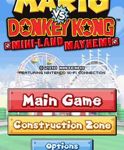 Mario vs. Donkey Kong: Mini-Land Mayhem! Nintendo DS Pantalla de título