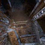 Theseus PlayStation 4  Ariadne explicando lo que sucedió en este lugar y el minotauro vagando por ella el pilar mientras el minotauro pasa