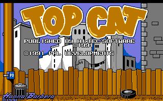 Top Cat in Beverly Hills Cats Amiga  pantalla de título #2.