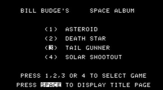 Bill Budge's Space Album Apple II  Selección de juego