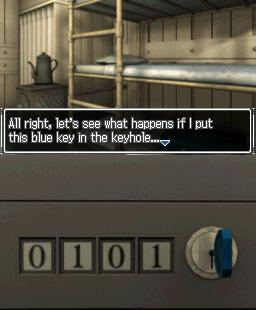 999: Nine Hours • Nine Persons • Nine Doors Nintendo DS  la clave está dentro del caso, ahora sólo tiene que encontrar el derecho combinación para abrir it.