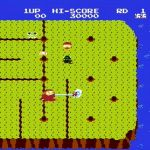 Dig Dug II: Trouble in Paradise NES  usando la bomba en una criatura