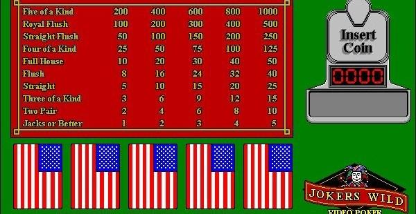 Joker's Wild Poker Windows  el inicio de un juego