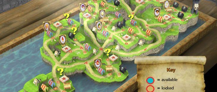 Shrek SuperSlam Windows  100 desafíos te esperan en este mapa.