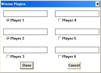 Windows Yahtzee Windows 3.x  Al comienzo de el juego se debe especificar el número de jugadores y sus nombres