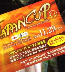 ジャパンカップ入場チケット
