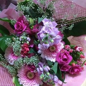 誕生日にもらった花束