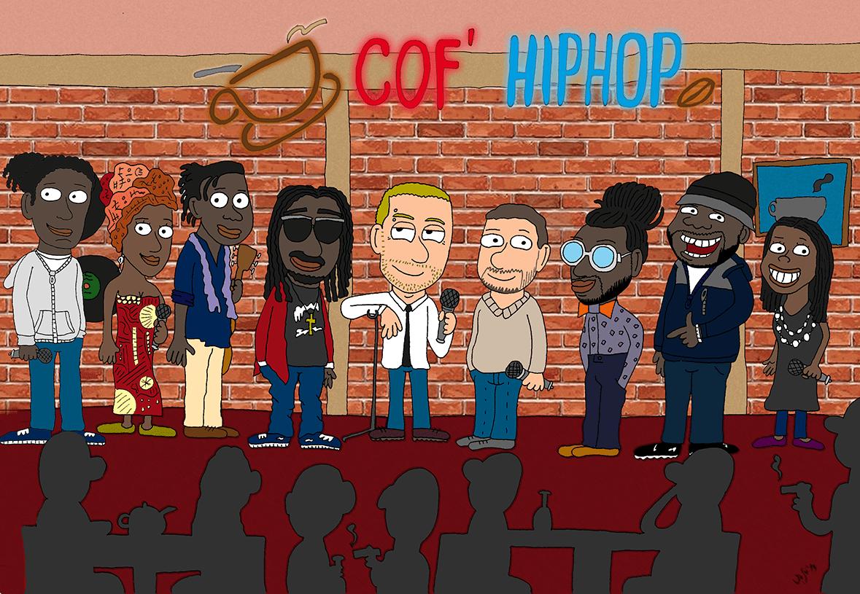 Caricatura Hip Hop francés
