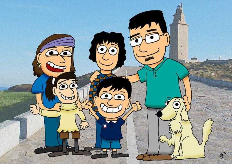 Caricatura Familia